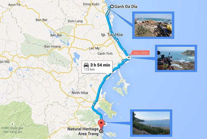 Đường từ Gành Đá Đĩa - Đại Lãnh - Nha Trang